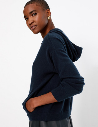 Marks and Spencer Pure Cashmere Cropped Hoodie