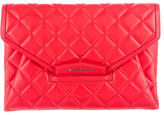 Givenchy Quilted Antigona Clutch w/ Tags