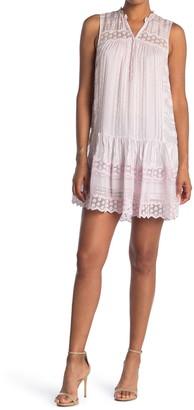 Rebecca Taylor Silk Split Neck Mini Dress