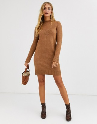 Pimkie jumper dress in brown