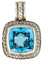 David Yurman Diamond & Topaz Albion Enhancer Pendant