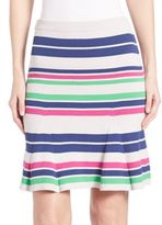 Tanya Taylor Sasha Striped Rib-Knit Skirt