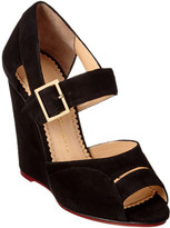 Charlotte Olympia Marcella 100 Suede Wedge