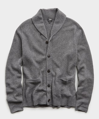 Todd Snyder Cashmere Cardigan in Charcoal