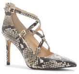 Vince Camuto Neddy2 – Snake-embossed Crisscross-buckle Pump