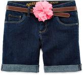 Arizona Cuffed Denim Shorts - Girls 7-16, Slim and Plus