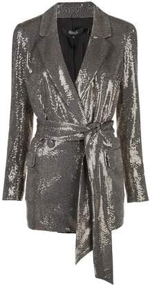 Badgley Mischka sequin embellished blazer