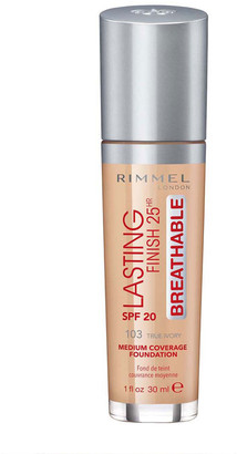 Rimmel Lasting Finish 25 Hour Liquid Foundation 30Ml 103 True Ivory (Light, Neutral)