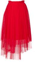 MSGM asymmetric tulle skirt