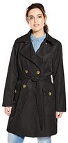 Anne Klein Women's Plus-Size Classic Double-breasted Trench Coat