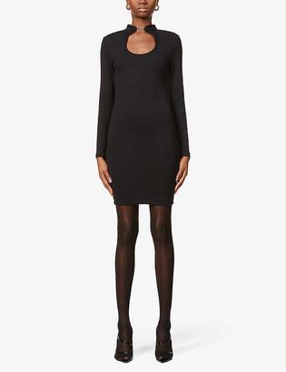 None Peeka Boo stretch-jersey mini dress
