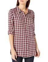 Goodthreads Amazon Brand Women's Modal Twill Long-Sleeve Oversized Boyfriend Shirt