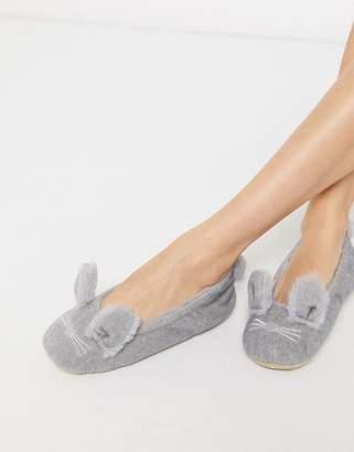 New Look bunny slippers in grey