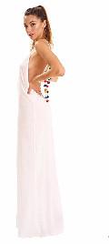 Pitusa Black Pom Pom Necklace Maxi Dress - O/S - White