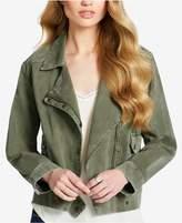 Jessica Simpson Cotton Moto Cargo Jacket