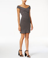 Bar III Striped Off-The-Shoulder Dress, Only at Macy's