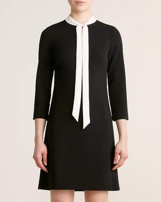 Tommy Hilfiger Tie-Neck Scuba Crepe A-Line Dress