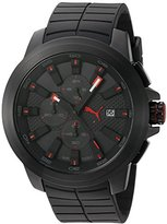Puma Men's Quartz Stainless Steel and Polyurethane Watch, Color:Black (Model: PU103891001)