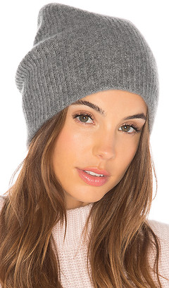 White + Warren Cashmere Blend Plush Rib Beanie