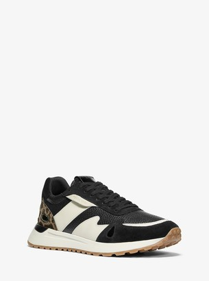 Michael Kors Miles Leather and Calf Hair Trainer
