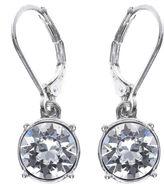 Gloria Vanderbilt Crystal Silver-Tone Drop Earrings