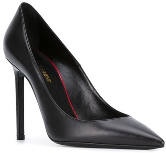 Saint Laurent Black Leather Anja 105 Pump