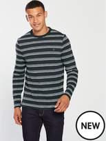 Farah Farah Ballater Long Sleeve Strip T Shirt