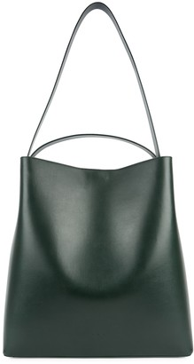 Aesther Ekme Sac large dark green leather tote