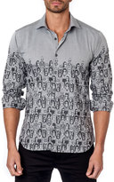 Jared Lang Graphic-Print Sport Shirt, Gray