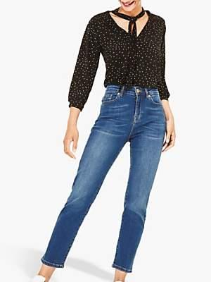 Oasis Maisey Cropped Slim Leg Jeans, Denim