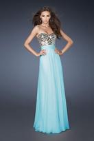 La Femme 18518 Fully Embellished Sweetheart Bodice Evening Gown