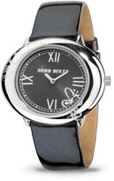Miss Sixty SRK001 40X33mm Stainless Steel Case Black Leather Mineral Men's Watch