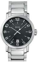 HUGO BOSS 1512362 45mm Silver Steel Bracelet & Case Mineral Men's Watch
