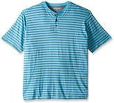 Lee Men's Short Sleeve Stripe Henley (Various Styles and Sizes Including Big and Tall)