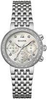 Bulova Diamonds Maiden Lane Womens Diamond-Accent Bracelet Watch 96R204
