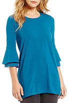 Westbound Petites 3/4 Tiered Bell Sleeve Tunic