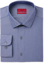 Alfani BLACK Men's Fitted Fit Performance Blue Texture Dress Shirt, Only at Macy's