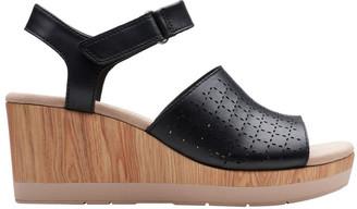 Clarks Cammy Glory Black Leather Sandal