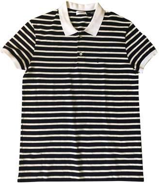 Saint Laurent Navy Cotton Polo shirts