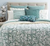 Sky Ombre Vines Green and Duvet Set by
