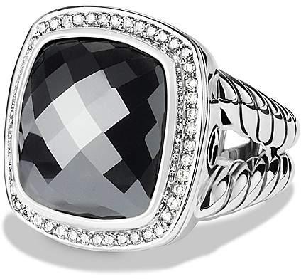 David Yurman Albion Ring with Hematine & Diamonds