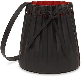 Mansur Gavriel Mini Pleated Bucket Bag - Black