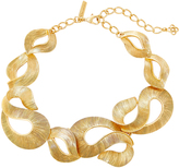 Oscar de la Renta Twisted Gold-Tone Ribbon Necklace
