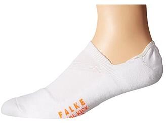 Falke Cool Kick Invisible Socks (White) Men's Low Cut Socks Shoes