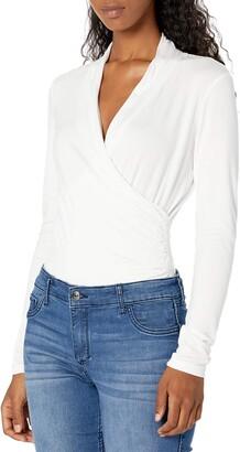 Jessica Simpson Women's Nara Faux Wrap Bodysuit Top
