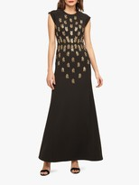 Phase Eight Collection 8 Kiera Embellished Maxi Dress, Black/Gold