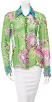 Dolce & Gabbana Sheer Floral Printed Top