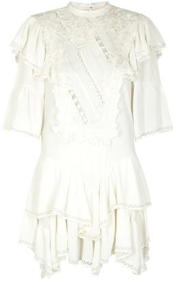 Isabel Marant Lima white floral-appliqued mini dress