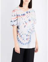 Raquel Allegra Tie-dye cotton-blend T-shirt