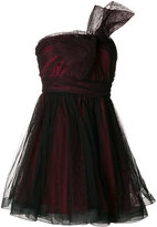 RED Valentino ruffled asymmetric bow dress